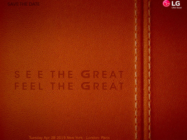 LG G4 is All Set For Launch on April 28