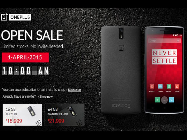 OnePlus One to go on Open Sale on April 1