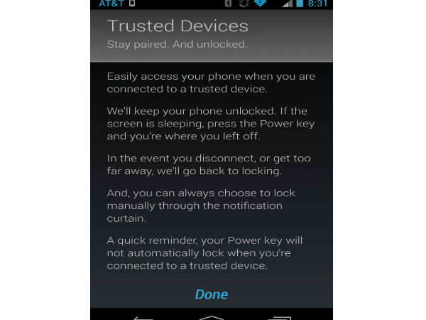 Set Up A Trusted Bluetooth Device: