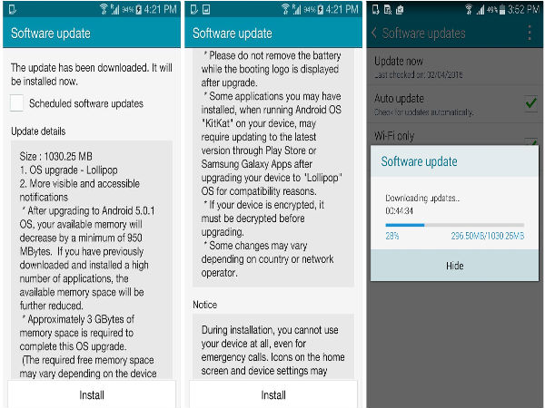 Samsung Galaxy Note 4 is getting Android 5.0 Lollipop update in India