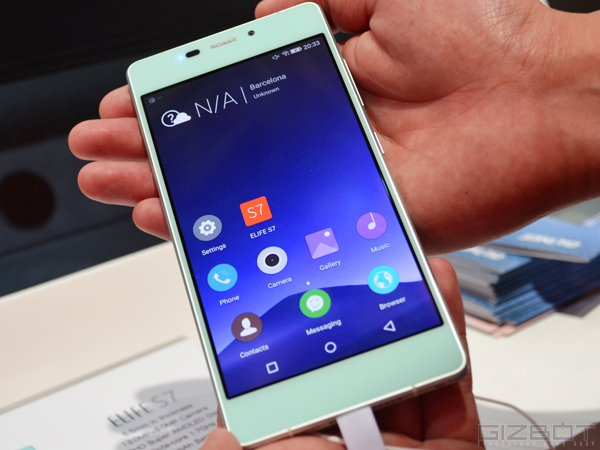 Gionee Elife S7 Launched in India at Rs 24,999