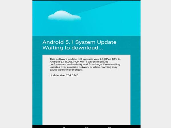 LG G Pad 8.3 Google Play Edition Tastes Android 5.1 Lollipop