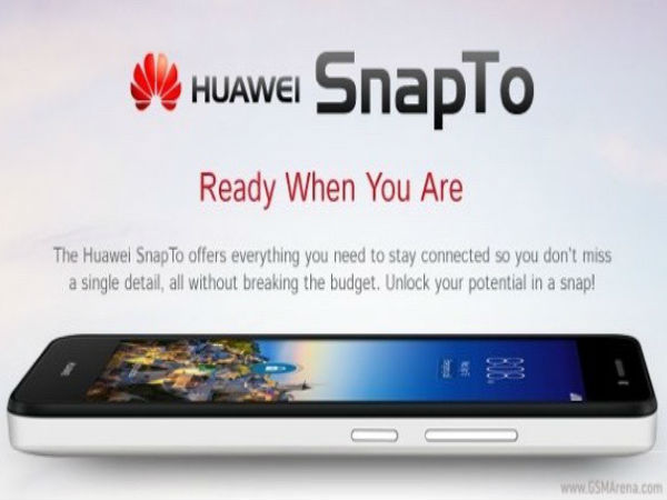 Huawei SnapTo: Budget Phone With 5-inch HD Display Launched