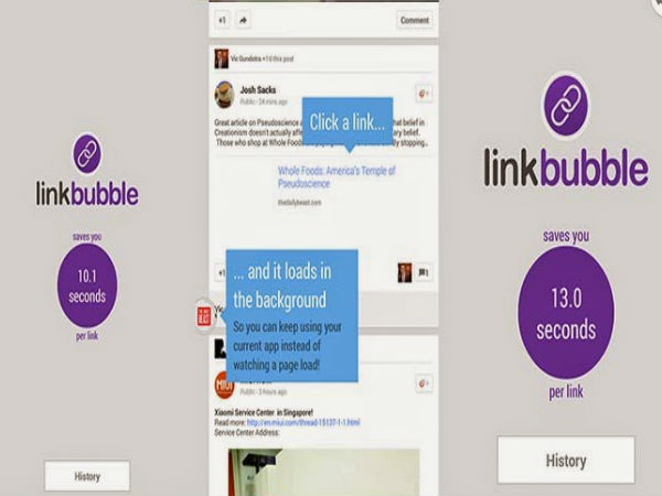 Link Bubble Browser