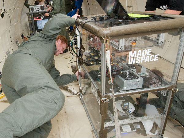 3D items Printed, built in Space Back on Earth
