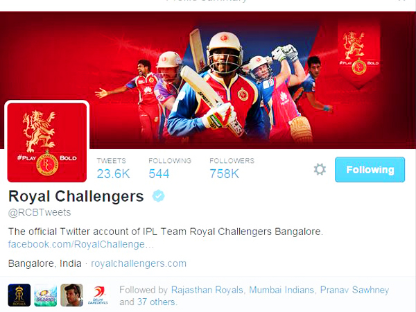 Official 'Royal Challengers' Page