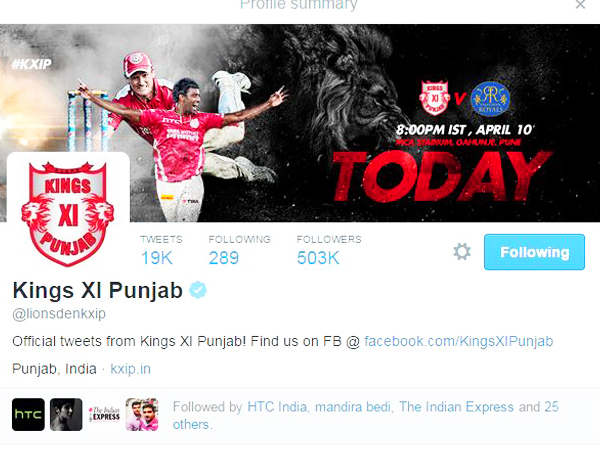 Official 'Kings XI Punjab' Page