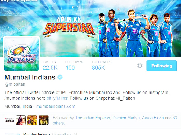 Official 'Mumbai Indians' Page
