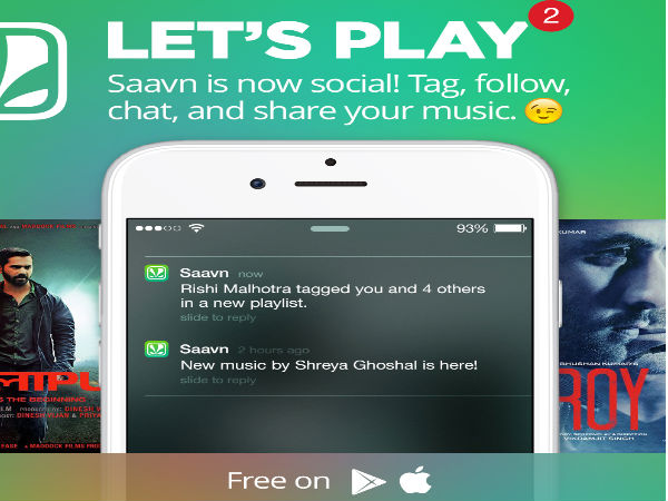 Saavn's New Update Comes with Tag Friends, Follow Artists and Music