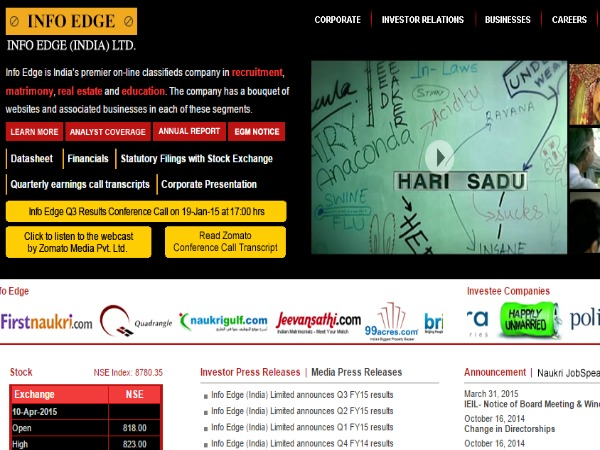 Info Edge invests Rs 155 crore in Zomato
