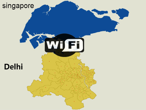 AAP Government seeks Singaporean help for Setting up WiFi across Delhi