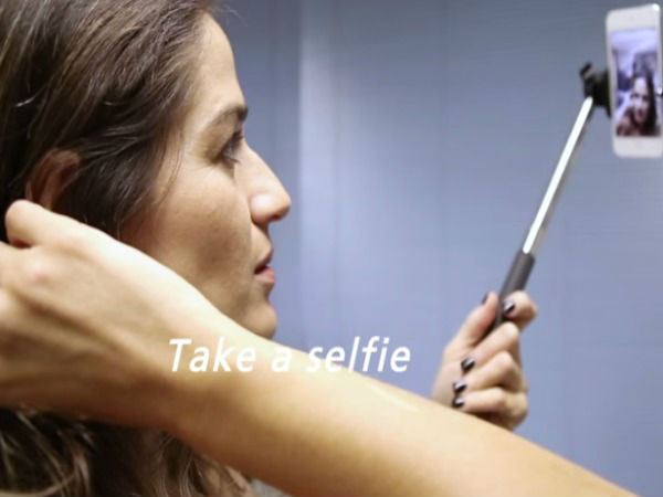 Now, Stroke your Hair to Control your Smartphone!