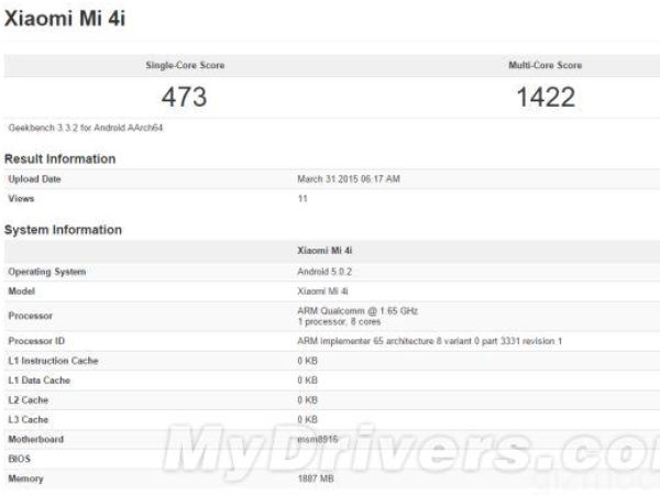 Xiaomi Mi 4i Specifications Get Leaked [REPORT]