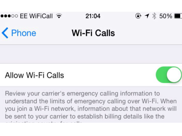 Make Calls Over Wi-Fi