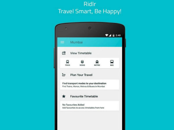 Ridlr New App for Capital's Public Transport users