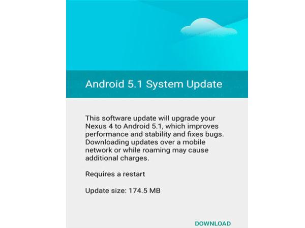 Google Nexus 4 Starts Getting Android 5.1 Update