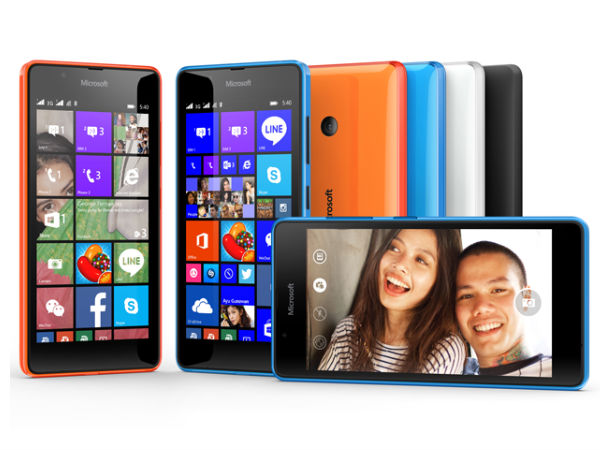 Microsoft Lumia 540 Announced With 5-inch HD Display and 8MP Camera