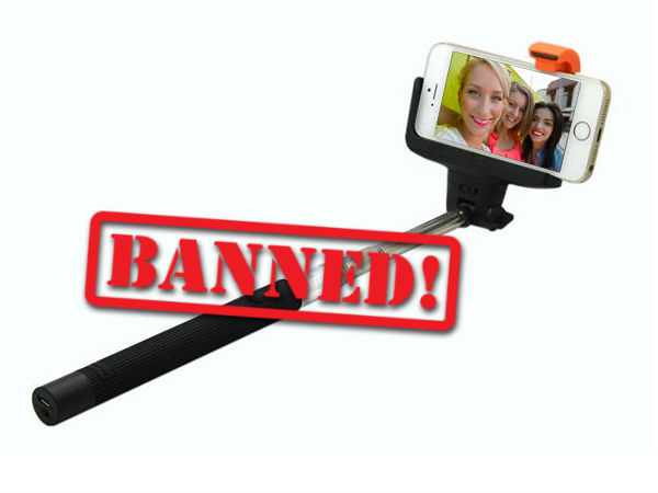 Apple bans selfie sticks