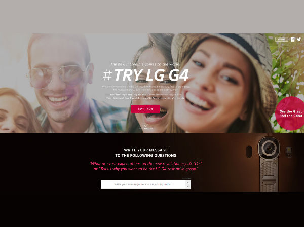 LG to Give G4 Smartphones to Consumer as a Part of Campaign in India