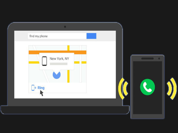 Google now Helps you find your Android phone