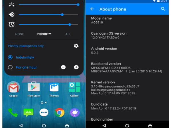 YU YUREKA Started Receiving Cyanogen OS 12 Android Lollipop Update