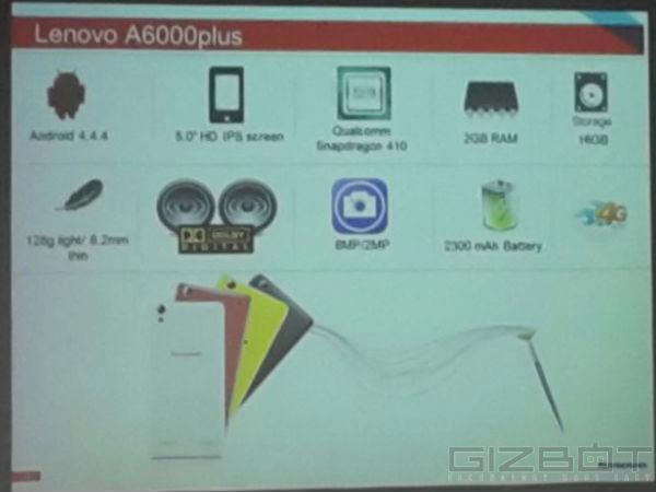 Lenovo A6000 Plus Registration Starts Today on Flipkart