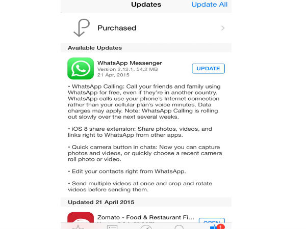 Whatsapp Voice Calling Option Rolled Out for iOS Users