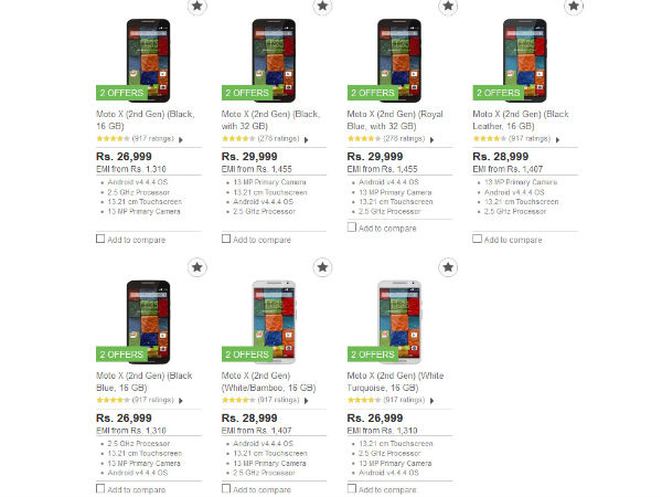 Moto X (2nd Gen) Faces Price Cut, Now Available at Rs 26,999
