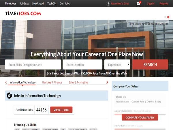 Jump in job Applications via Mobile phone Apps: TimesJobs.com