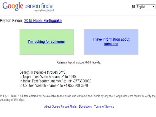 Facebook, Google tools to locate people in quake-hit Nepal