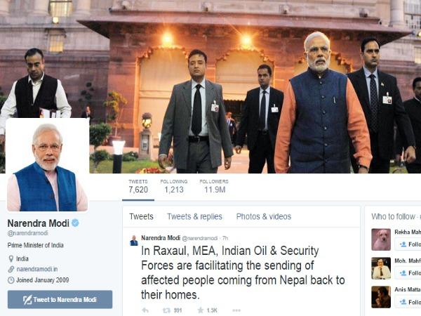 Narendra Modi third most followed world leader on Twitter