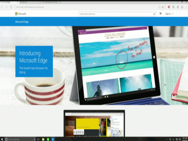 Microsoft's Project Spartan Browser Officially Named Microsoft Edge