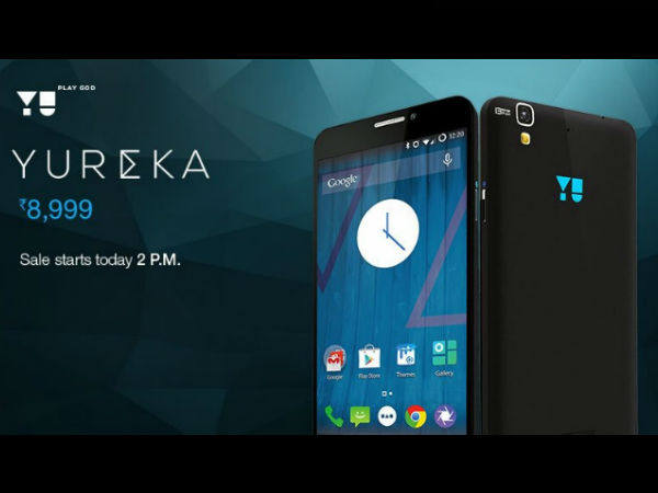 Yu Yureka To Go on Flash Sale at 2PM Today on Amazon India