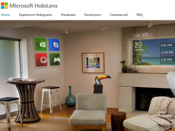 Microsoft Unveils Details of its Innovative HoloLens - Gizbot News