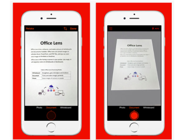 Microsoft Launches Office Lens App for iOS and Android
