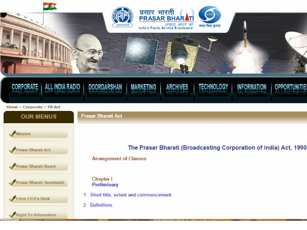 Prasar Bharati banks on Mobile Apps for Wider Dissemination of Content