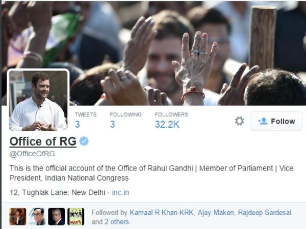 Rahul Gandhi debuts on Twitter