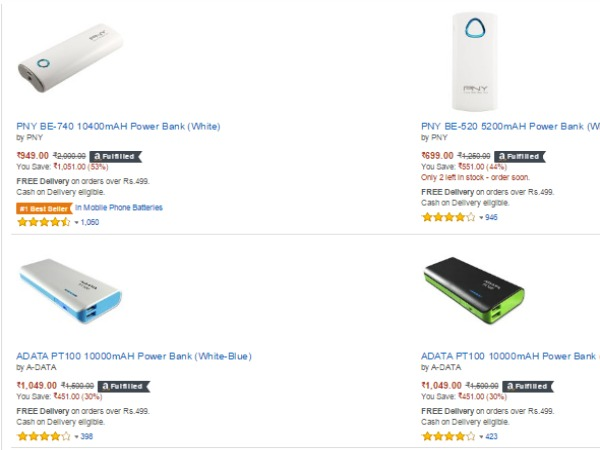 UPTO 60% DISCOUNT ON POWER BANKS