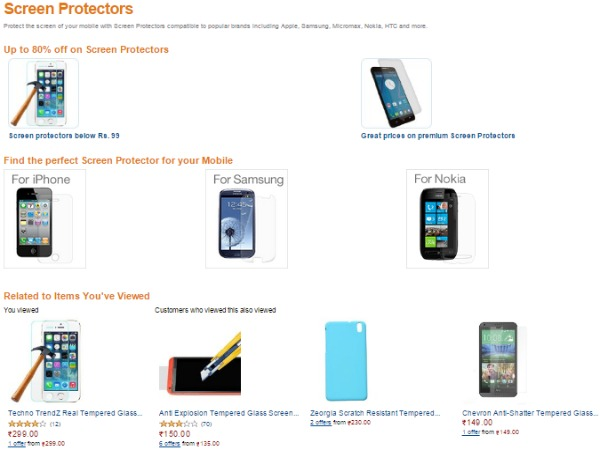 UPTO 80% OFF ON SCREEN PROTECTORS
