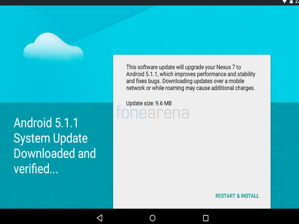 Nexus 7 2012 (Wi-Fi) Started Receiving Android 5.1.1 Update