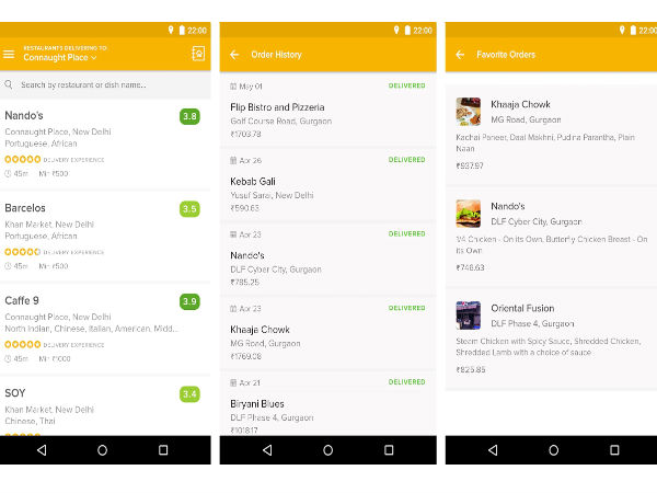 Zomato Launched a Stand-Alone App for Food Ordering