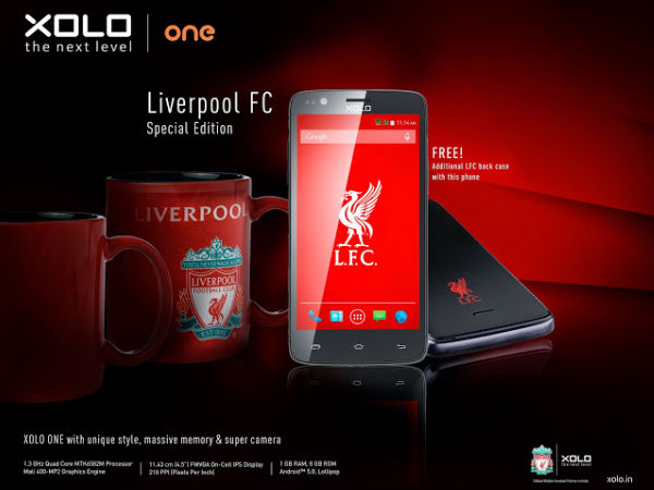 Xolo Announces Liverpool FC Limited Edition Smartphone at Rs 6,299