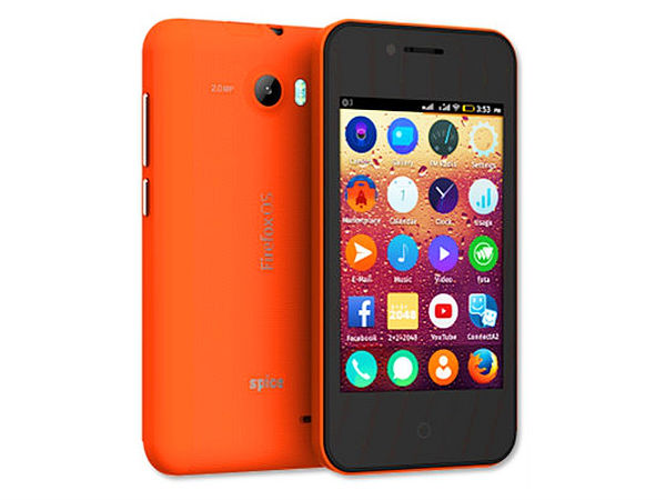 Spice Fire One Mi-FX 2 with FireFox OS, 3.5-inch Display Launched