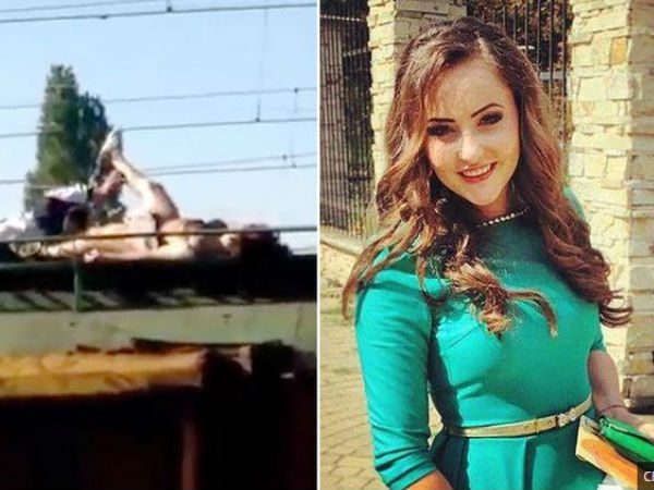 News: Teen taking a selfie on top of train burst into