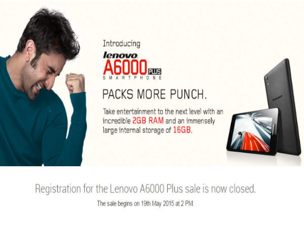 Lenovo A6000 Plus to Go on Flash Sale at 2PM on Flipkart