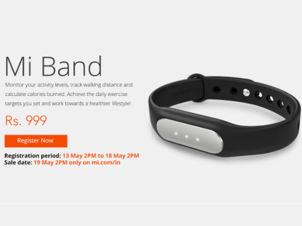 Xiaomi MiBand to Go on Flash Sale on Official Website at 2PM