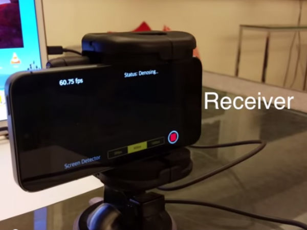 First hidden, real-time, screen-camera communication created