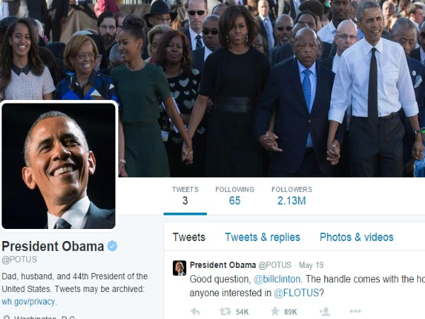 Obama breaks Guinness record with new Twitter account