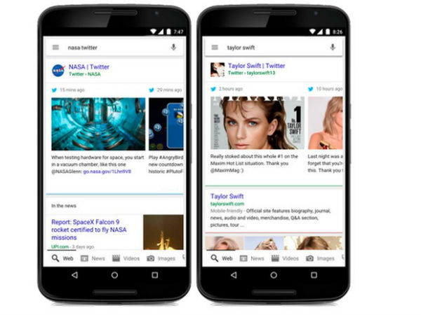 Google Search includes Tweets on mobile, coming to desktop browsers