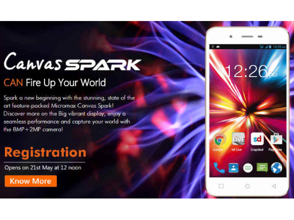 Canvas Spark Went Out of Stock in Less Than 2 Minutes on Snapdeal